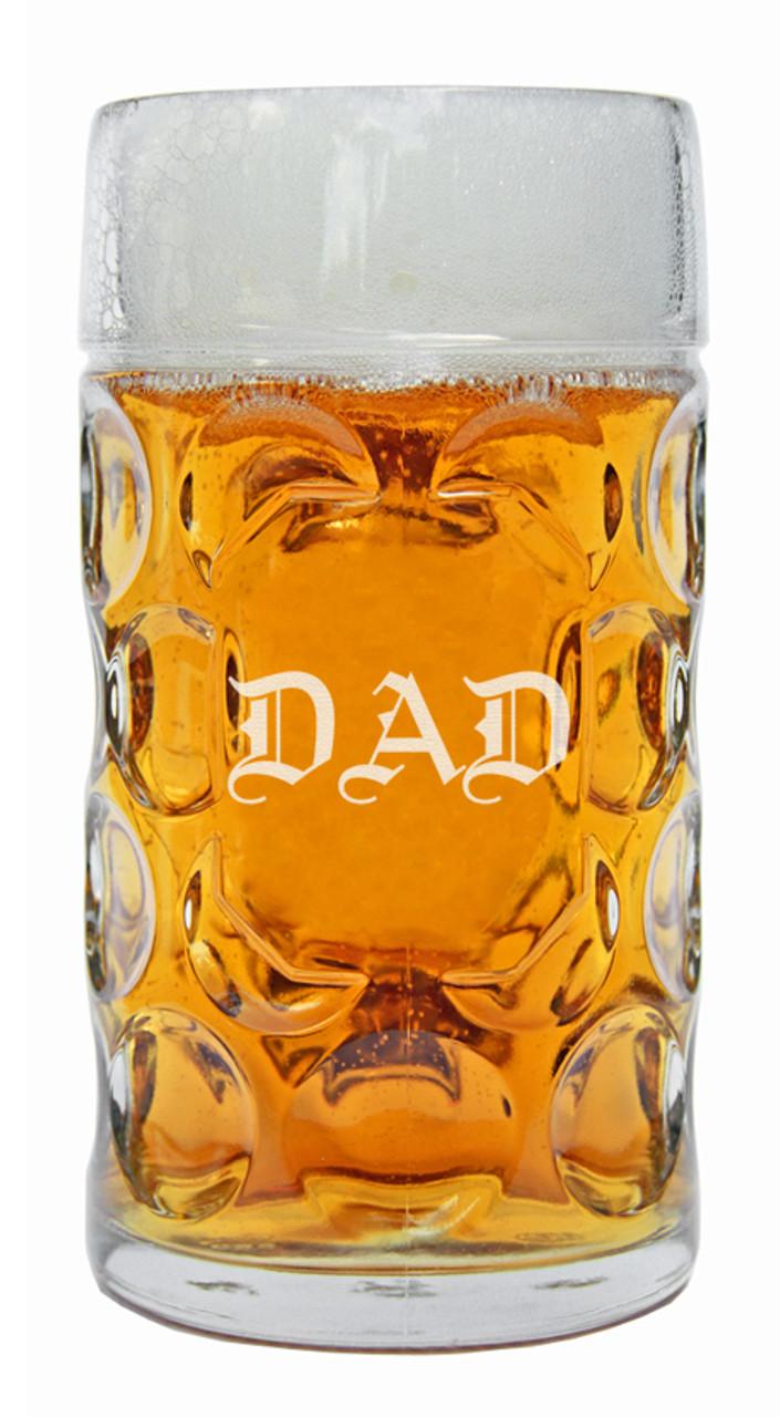 DAD Oktoberfest Glass Beer Mug 1 Liter
