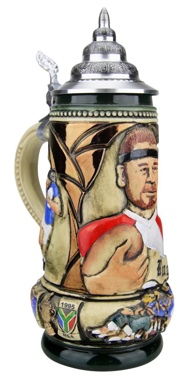 Rugby Beer Stein Rustic