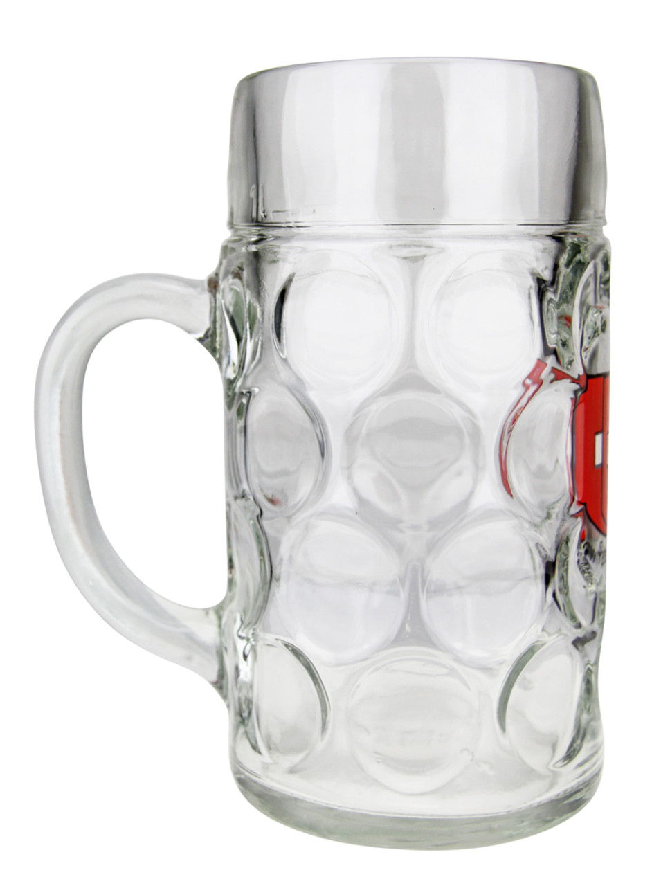 Oktoberfest Glass Beer Mug with Swiss Cross