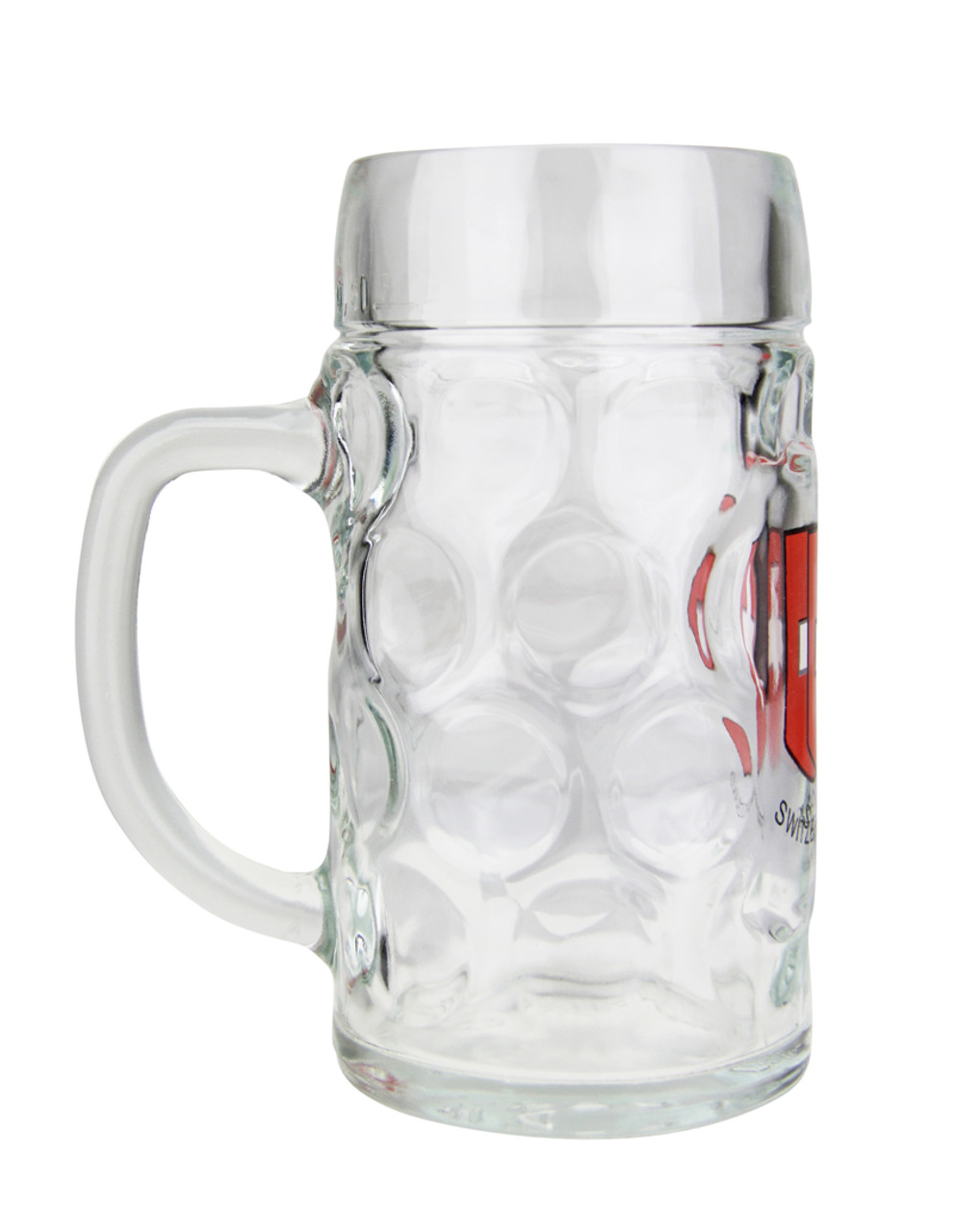 Add Custom Engraving to Swiss Cross Glass Beer Mug
