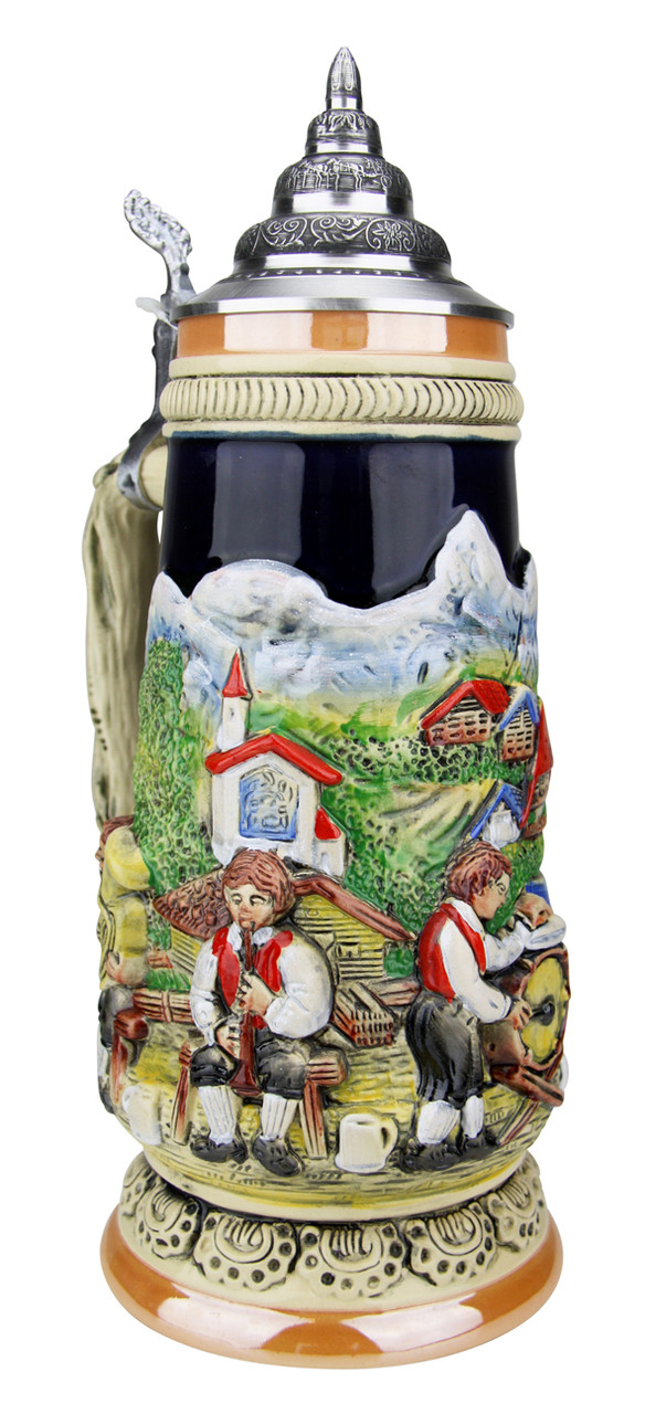 Alpine Oompah Band Beer Stein | 1 Liter