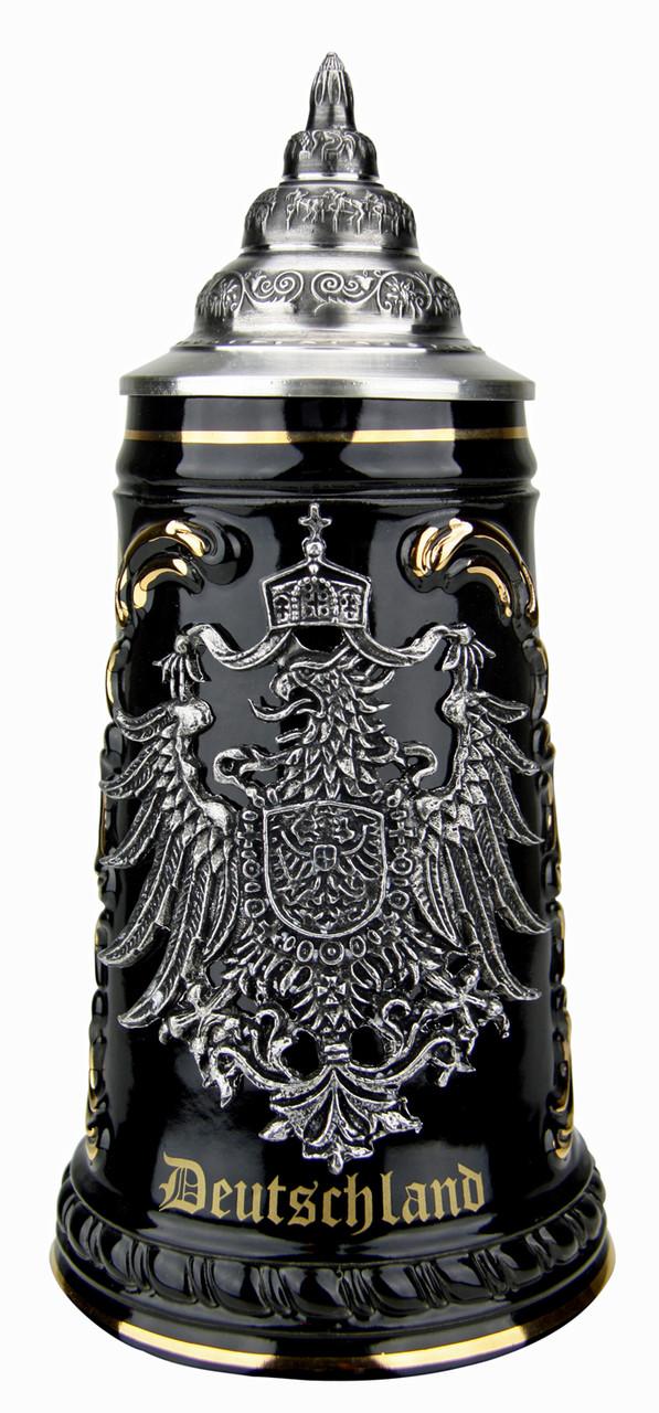 Deutschland Beer Stein with Pewter Eagle Badge