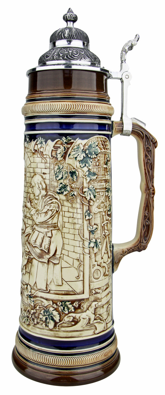 Card Players Antique Style Beer Stein | 2 Liter