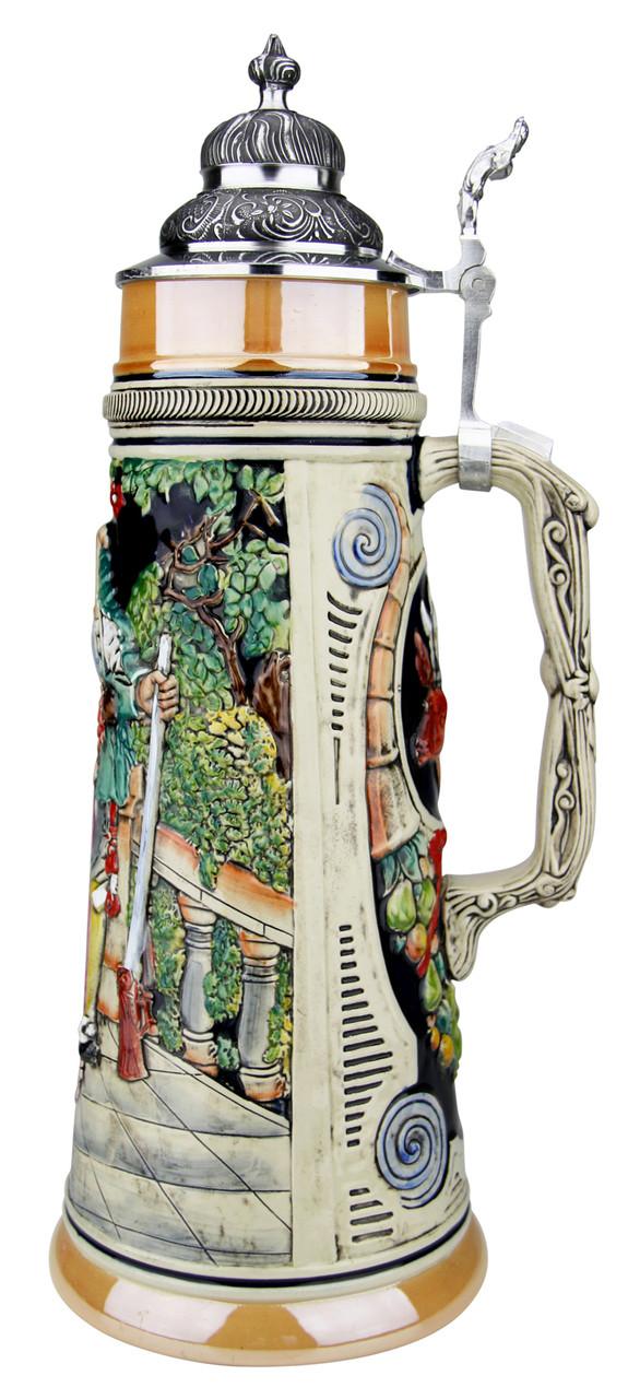 Hunters Kiss Handpainted Beer Stein | 2 Liter