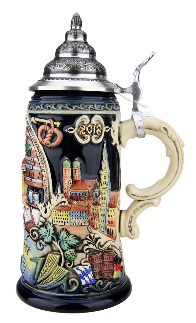 208th Anniversary Oktoberfest Festivities Beer Stein | King Werk 2018 Oktoberfest Beer Stein