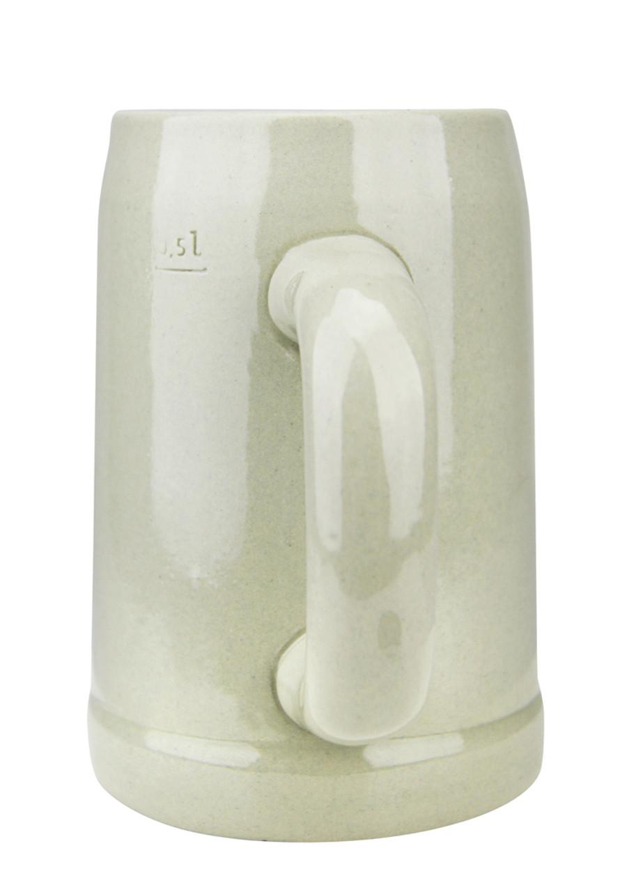 King Werk Gray Glaze Stoneware Beer Mug 0.5 Liter