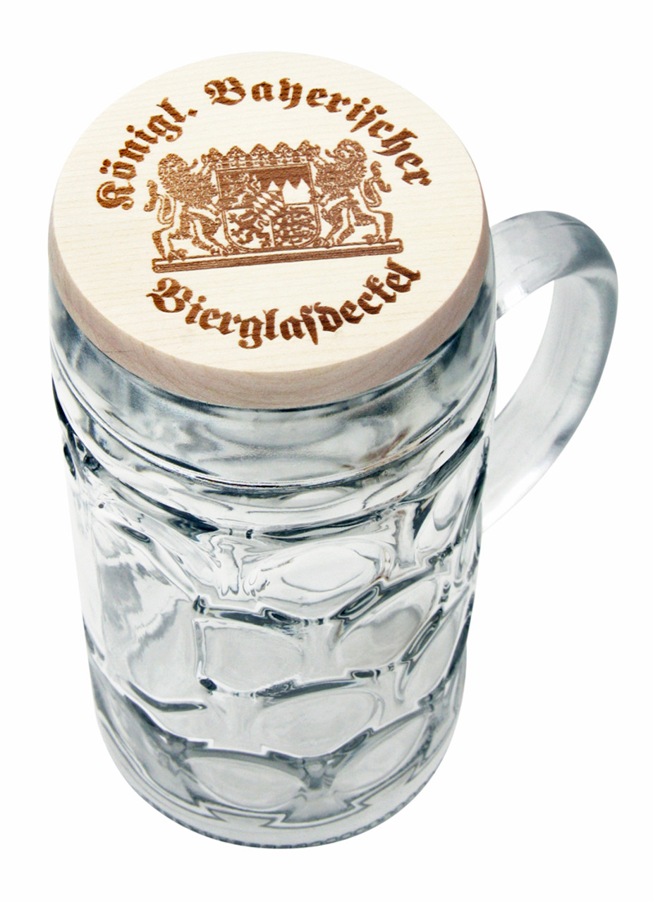 Bayerischer wooden deckel (1 liter mug not included)