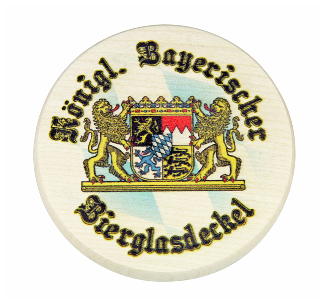 Bavarian Lion Crest Full Color Wooden Cover