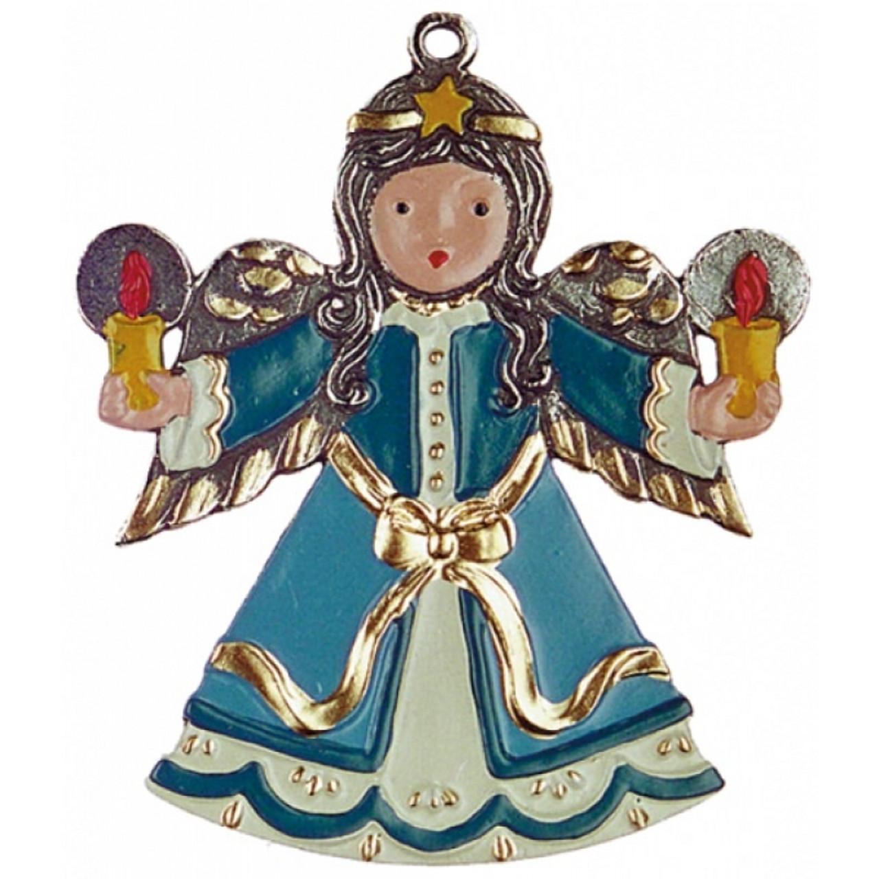 Handmade Christmas Angel German Pewter Ornament