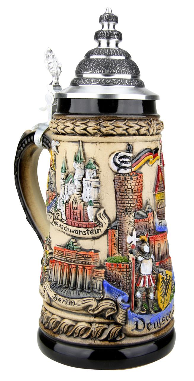 Germany Panorama Beer Stein Rustic
