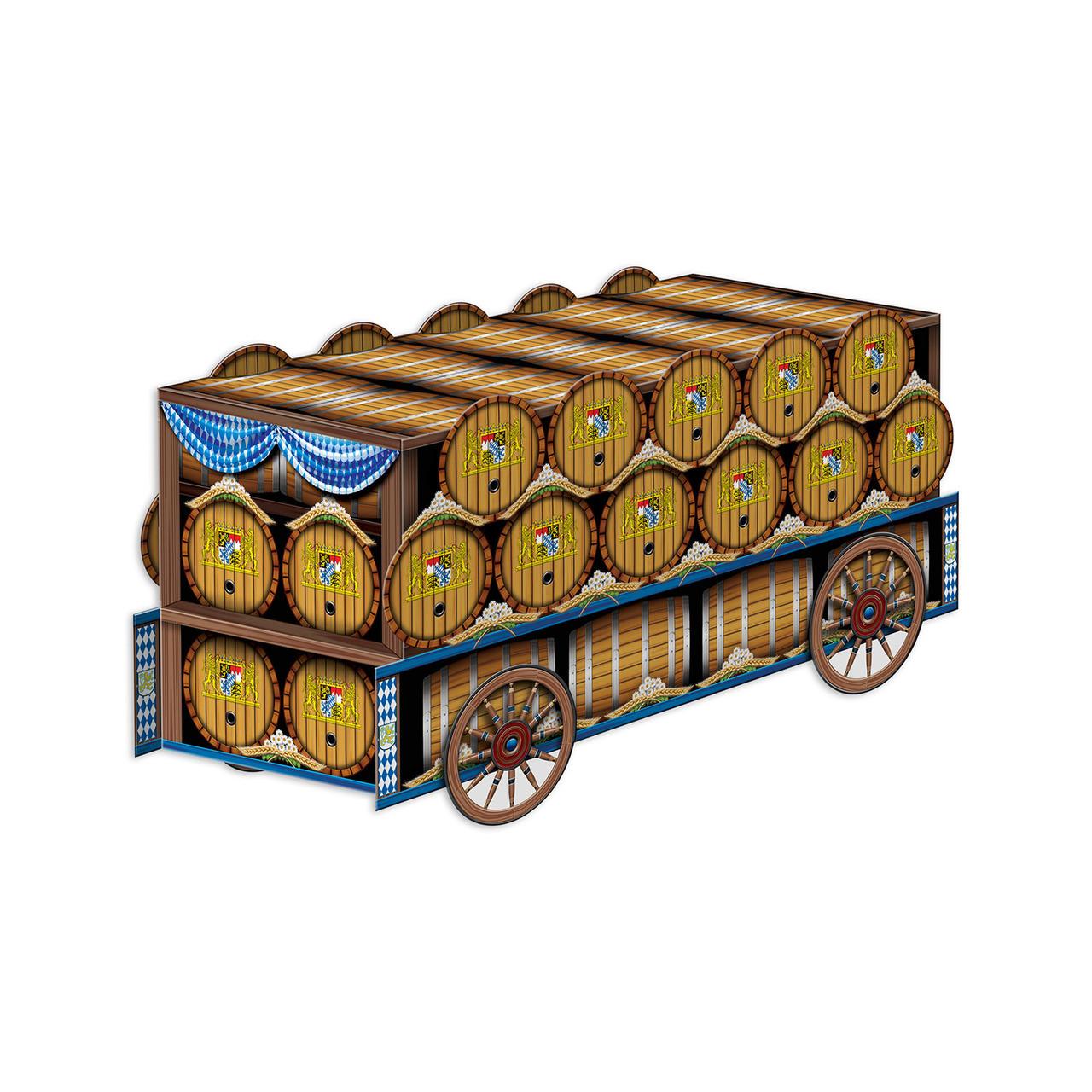 Oktoberfest Beer Wagon Paper Cut Out Centerpiece 3D