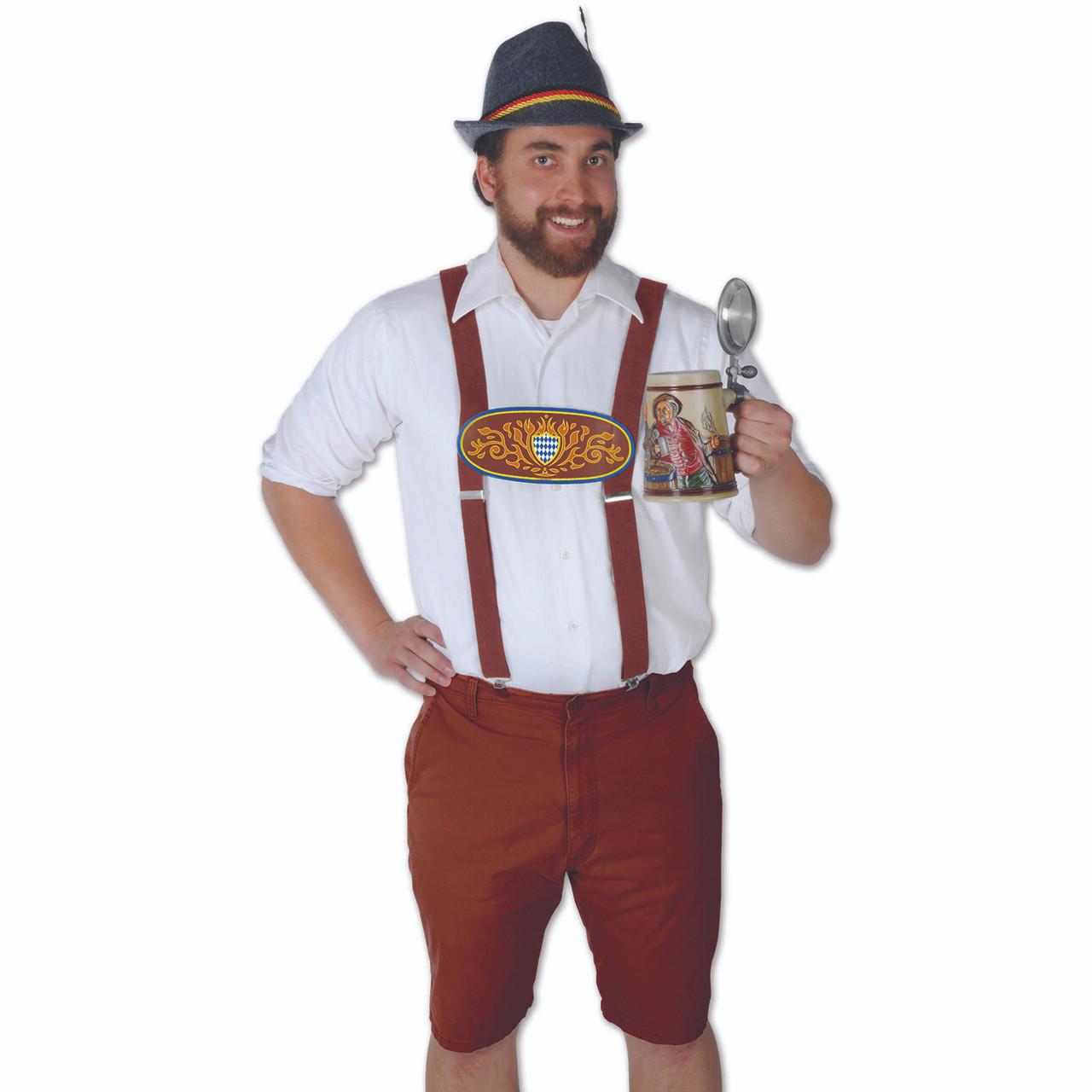 Bavarian Lederhosen Oktoberfest Party Suspenders