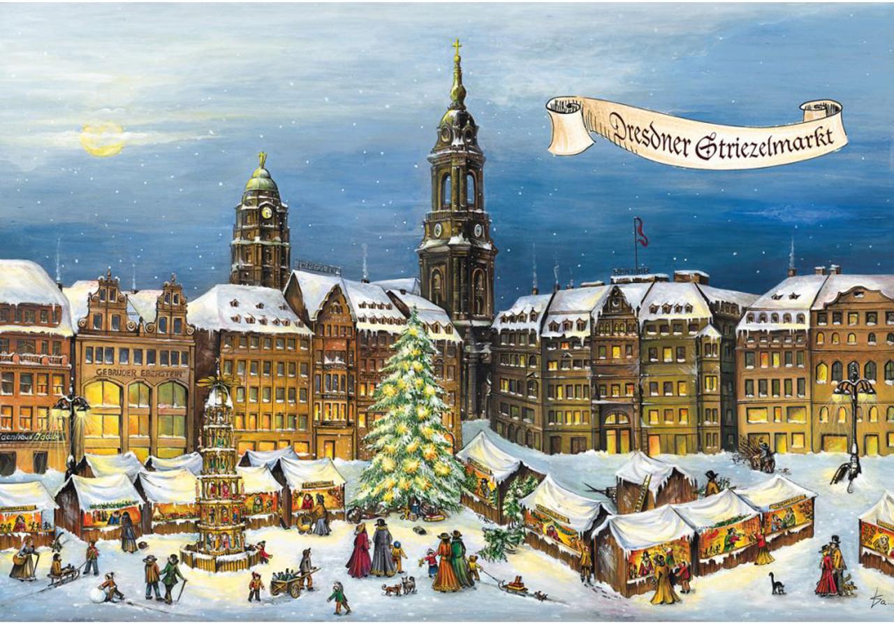 Dresden Striezelmarkt Christmas Market German Advent Calendar