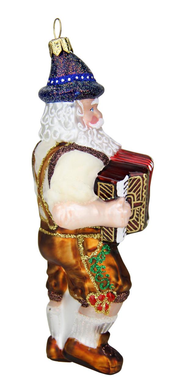 Bavarian Oktoberfest Oompah Band Santa Christmas Ornament