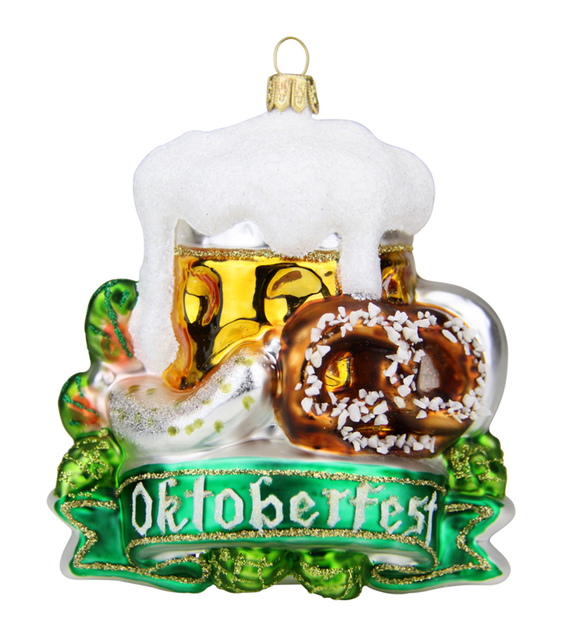 Oktoberfest Glass Christmas Ornament