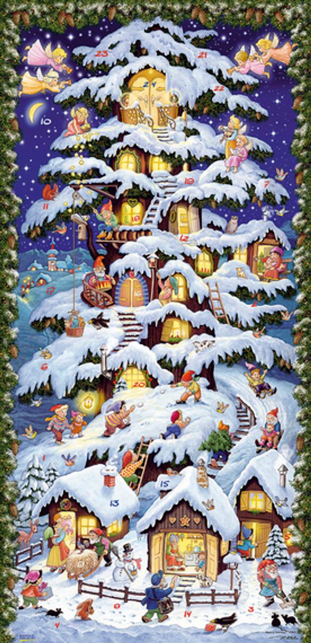 Christmas Forest House Extra Tall German Advent Calendar