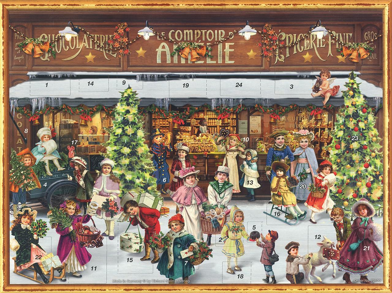 victorian chocolate shop german advent calendar