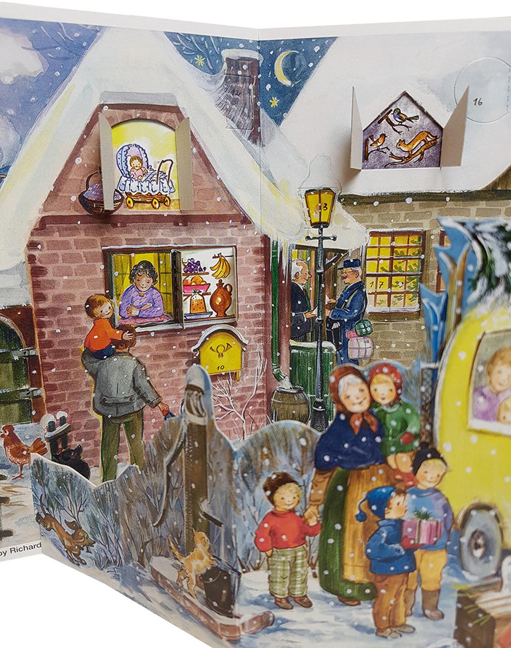 Nostalgic Mini Bus 1960s Reproduction 3D German Christmas Advent Calendar