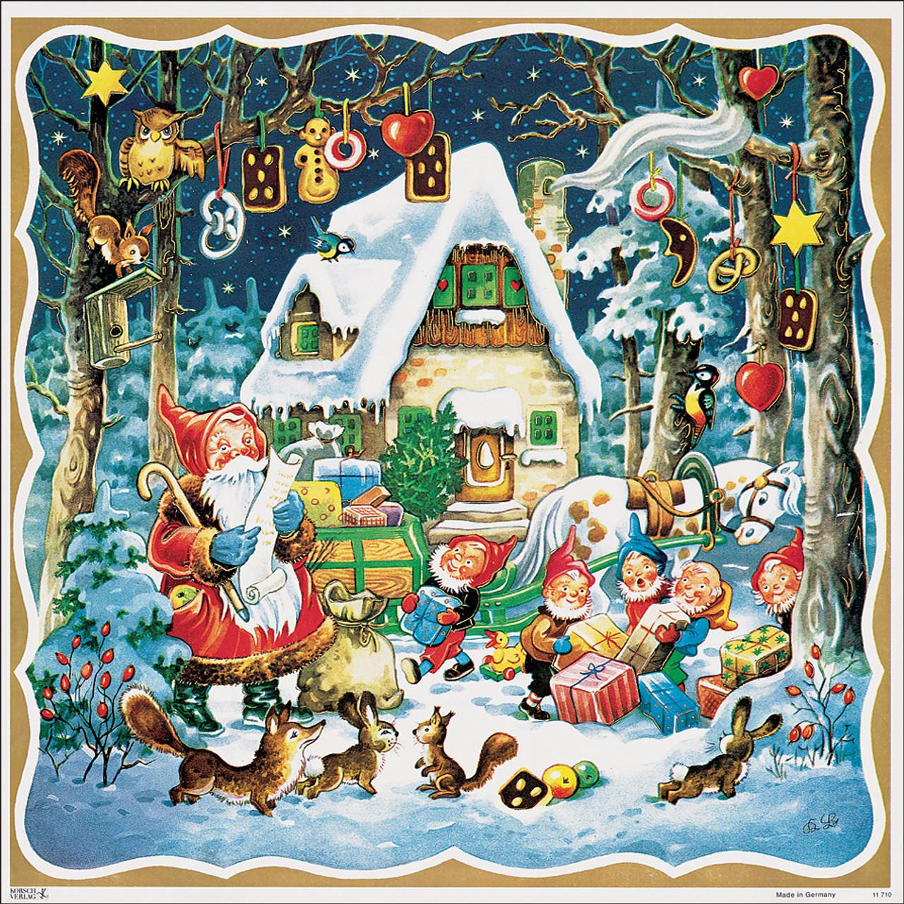 Santas Forest House German Christmas Advent Calendar