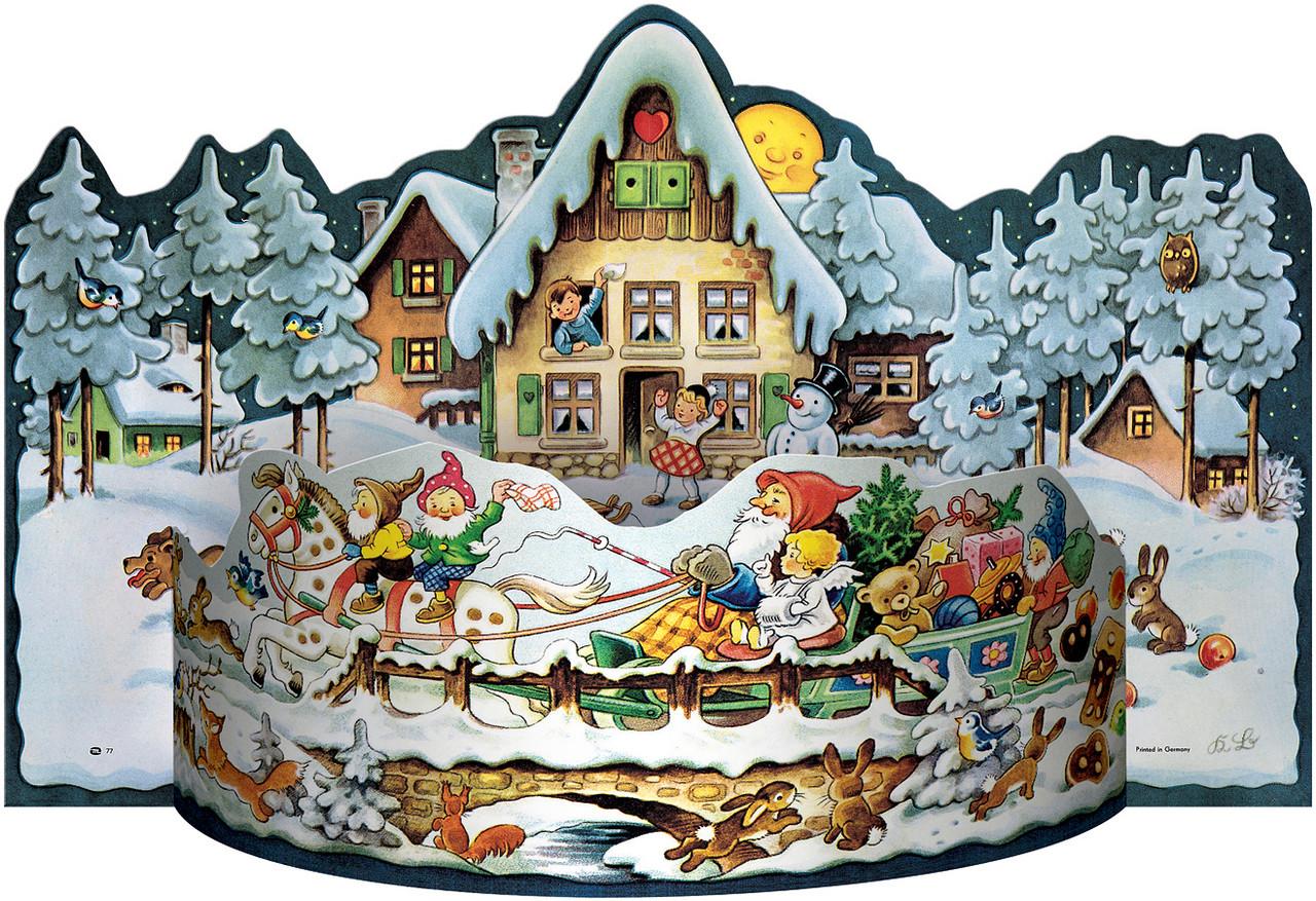 Sleigh Ride 1957 Reproduction 3D German Advent Calendar