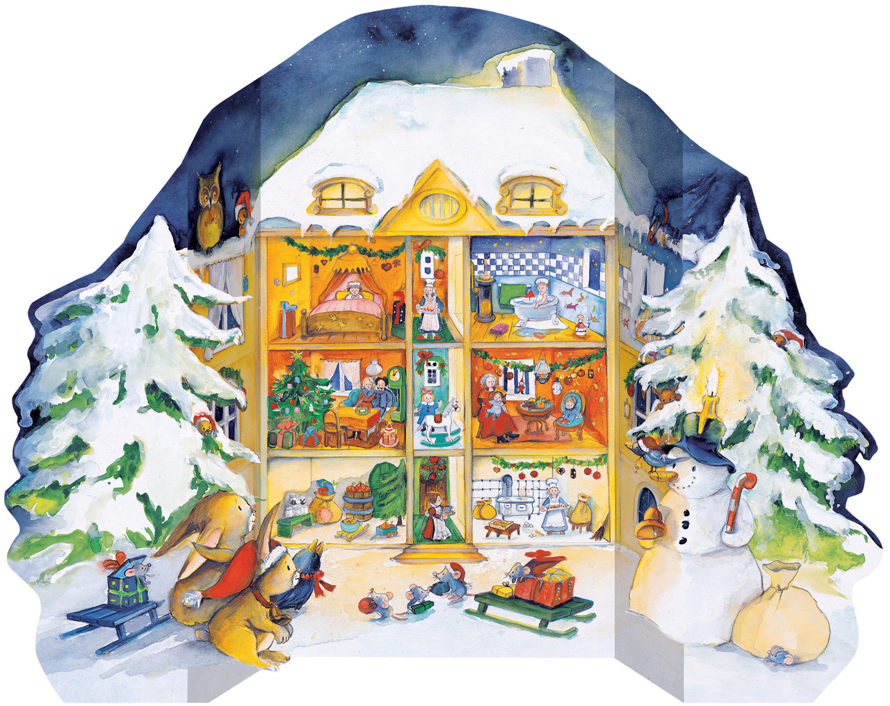Christmas in the Dollhouse Extra Large German Advent Calendar