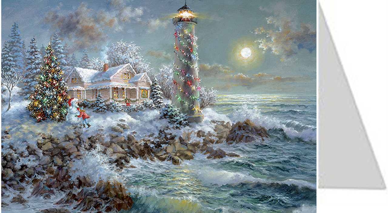 Christmas Lighthouse German Advent Calendar Christmas Card