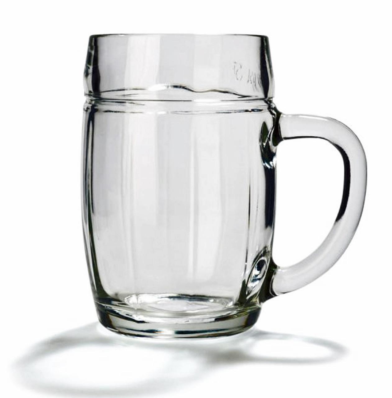 Barrel Shaped glass Beer Mug