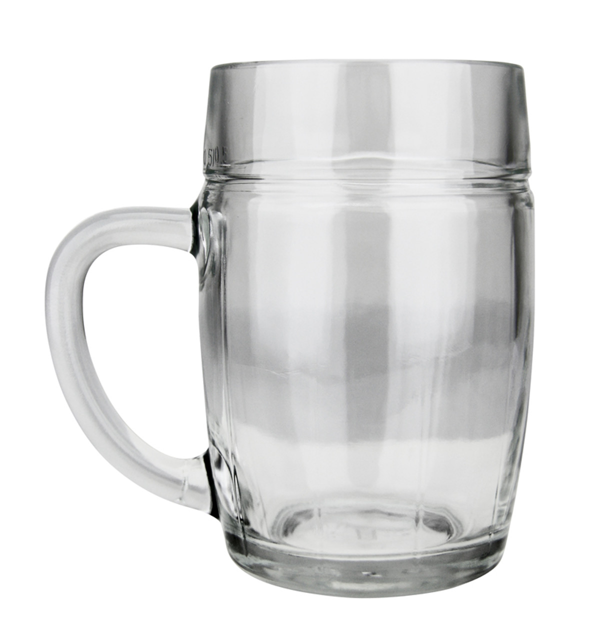 Plain .5 Liter Glass Beer Mug Perfect for Engraving