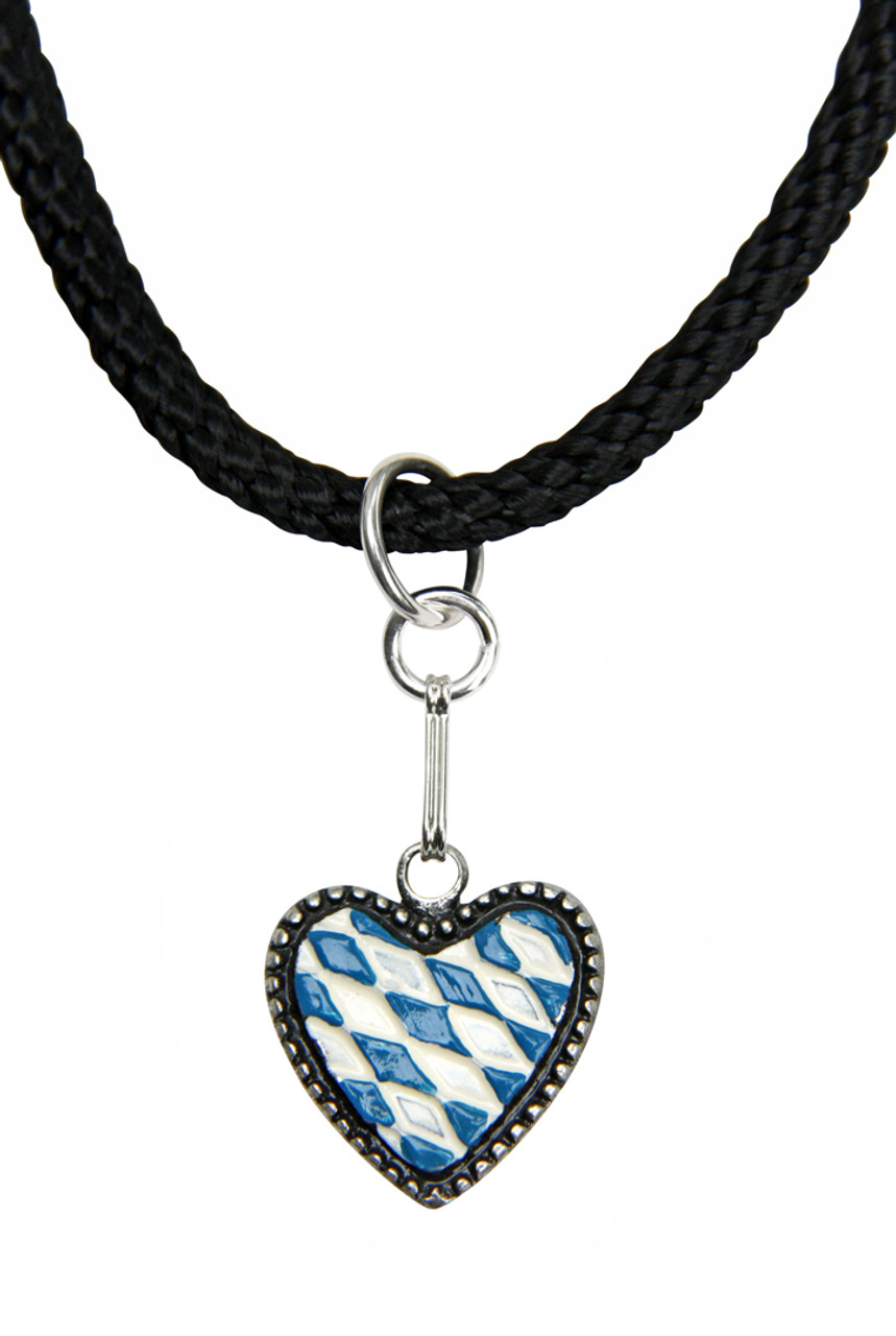 Bavarian Heart German Pewter Dirndl Necklace