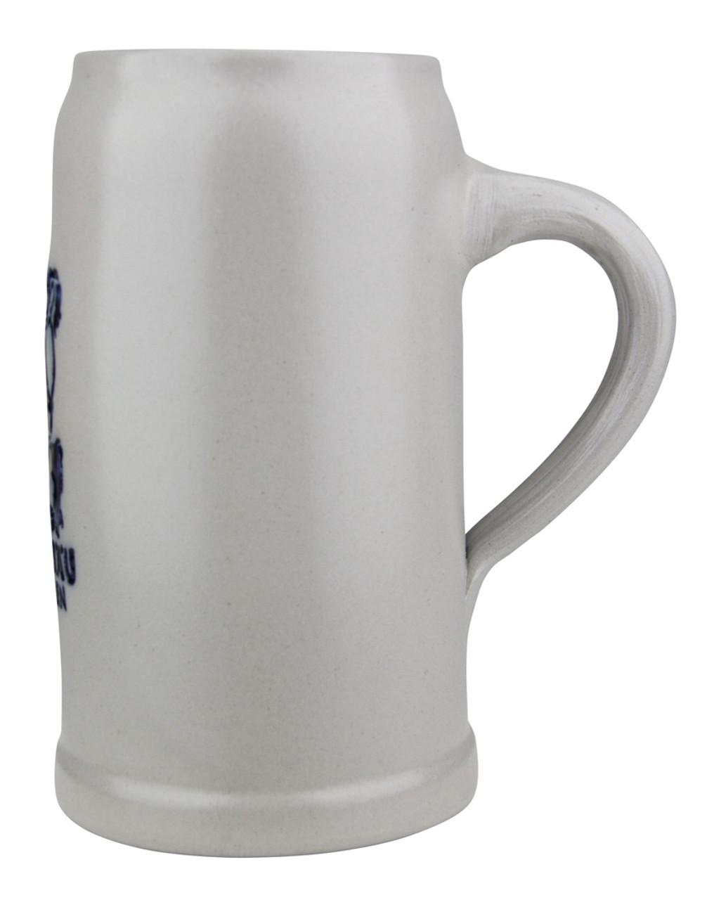 Undecorated Back Gray Stoneware Lowenbrau Brewery Mug