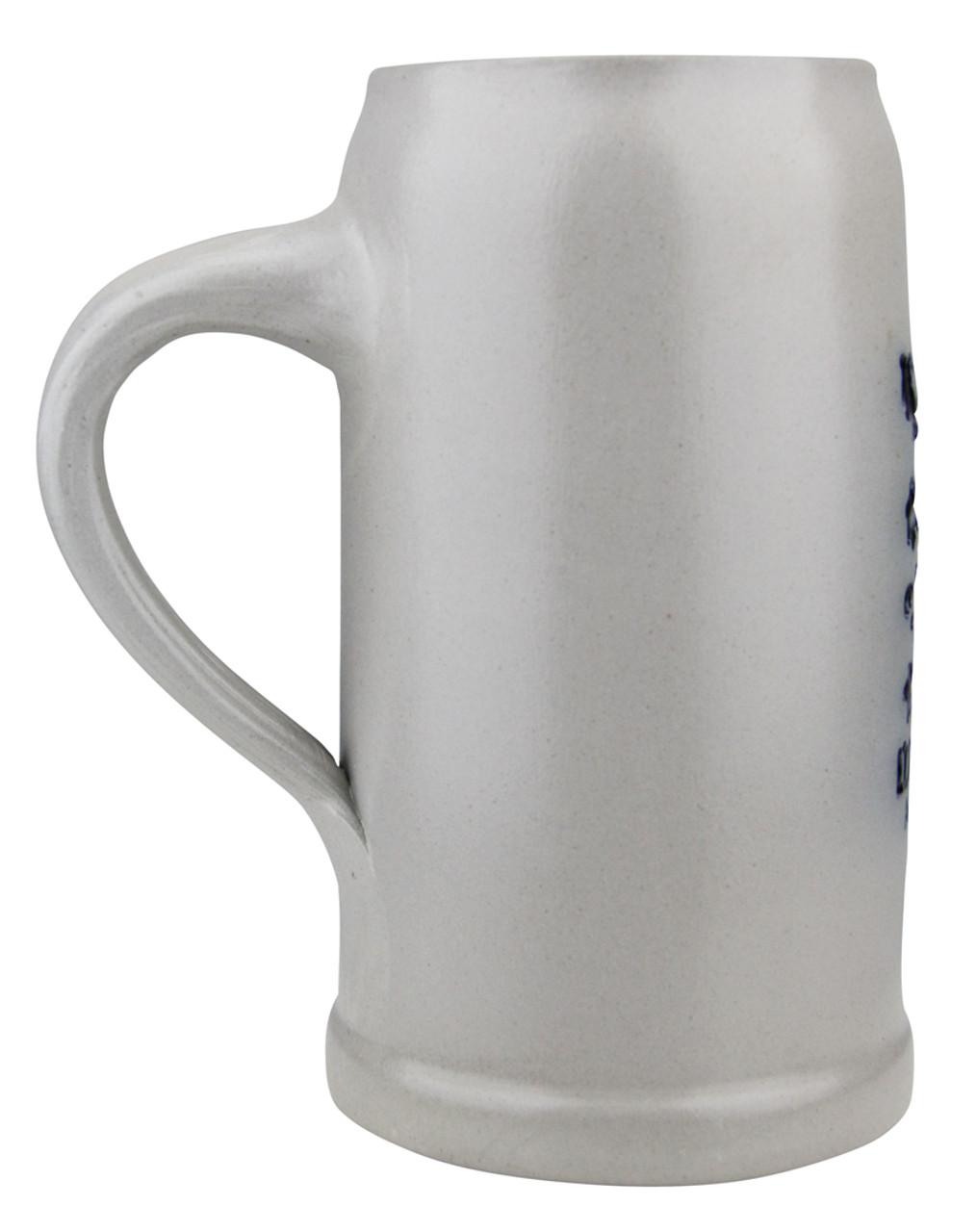 Stoneware Lowenbrau Brewery Mug with 1 Liter Fill Line Mark