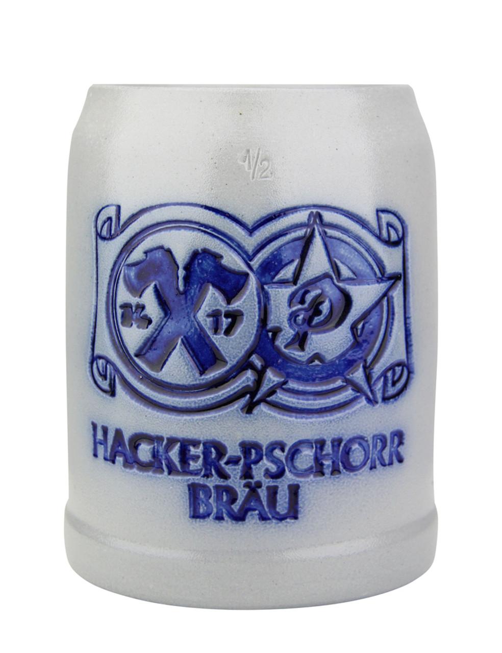 Hacker Pschorr Brewery 0.5 Liter Salt Glaze Stoneware Beer Mug