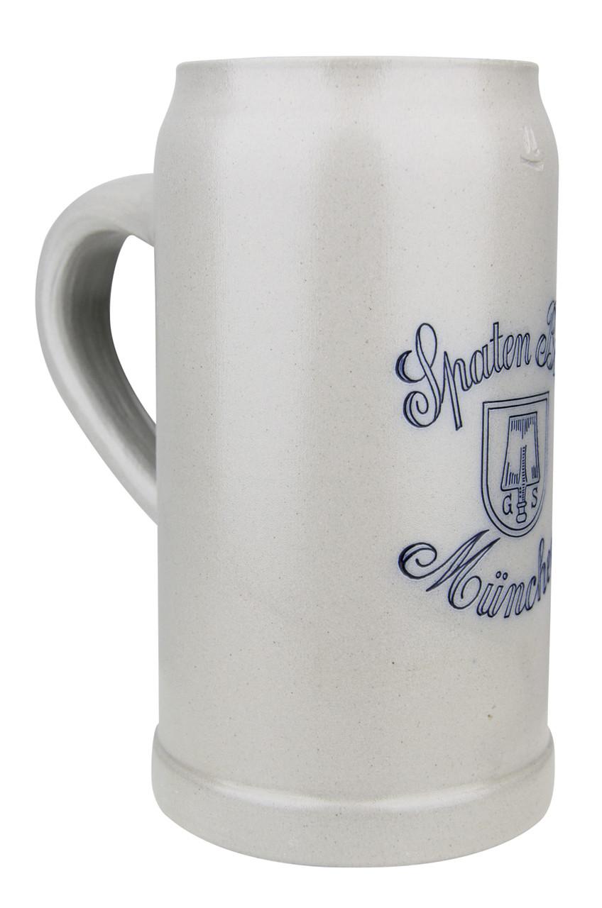 Spaten Brau Brewery 1 Liter Salt Glaze Stoneware Beer Mug