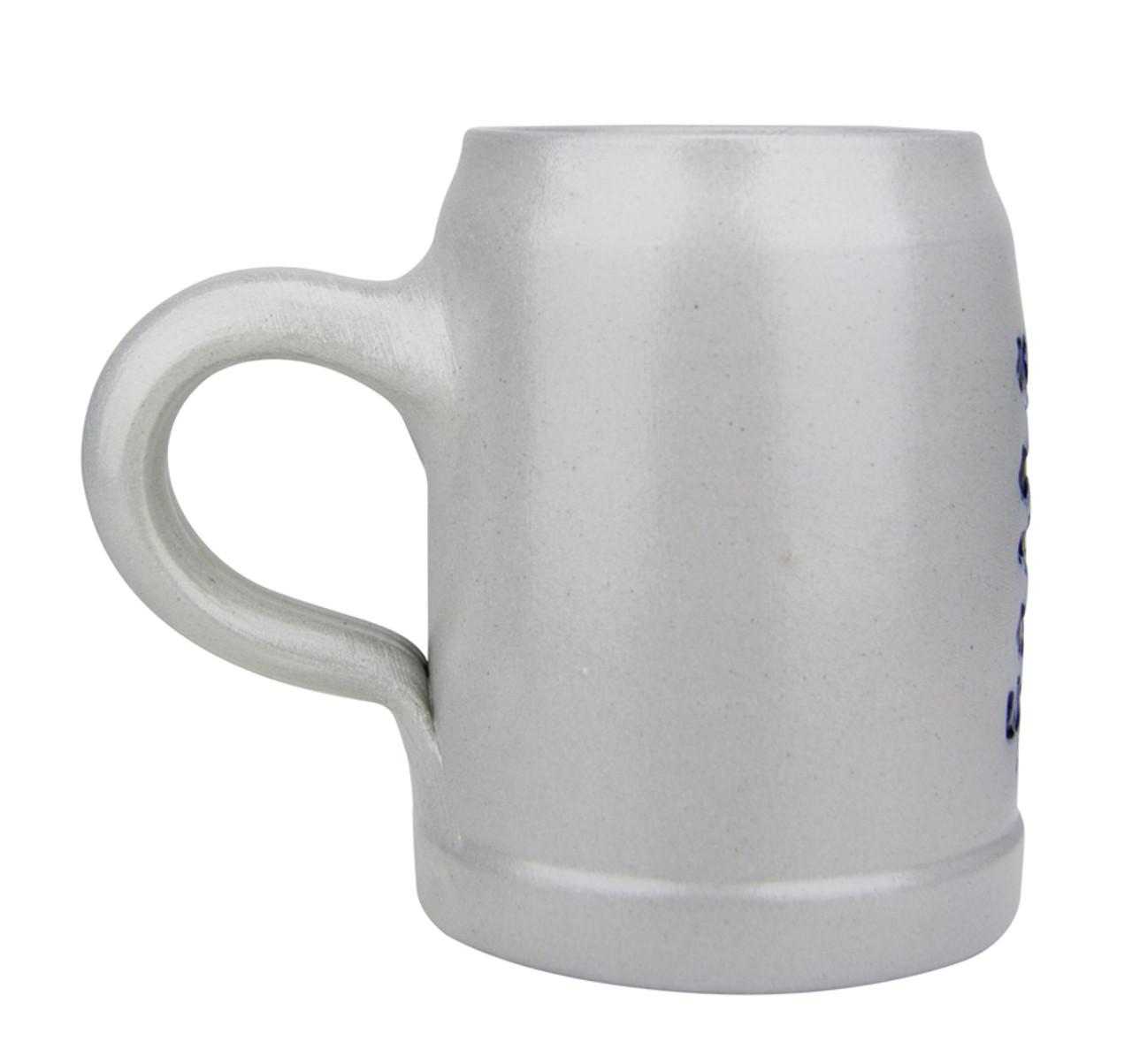 Undecorated Back .5 Liter Stoneware Beer Mug
