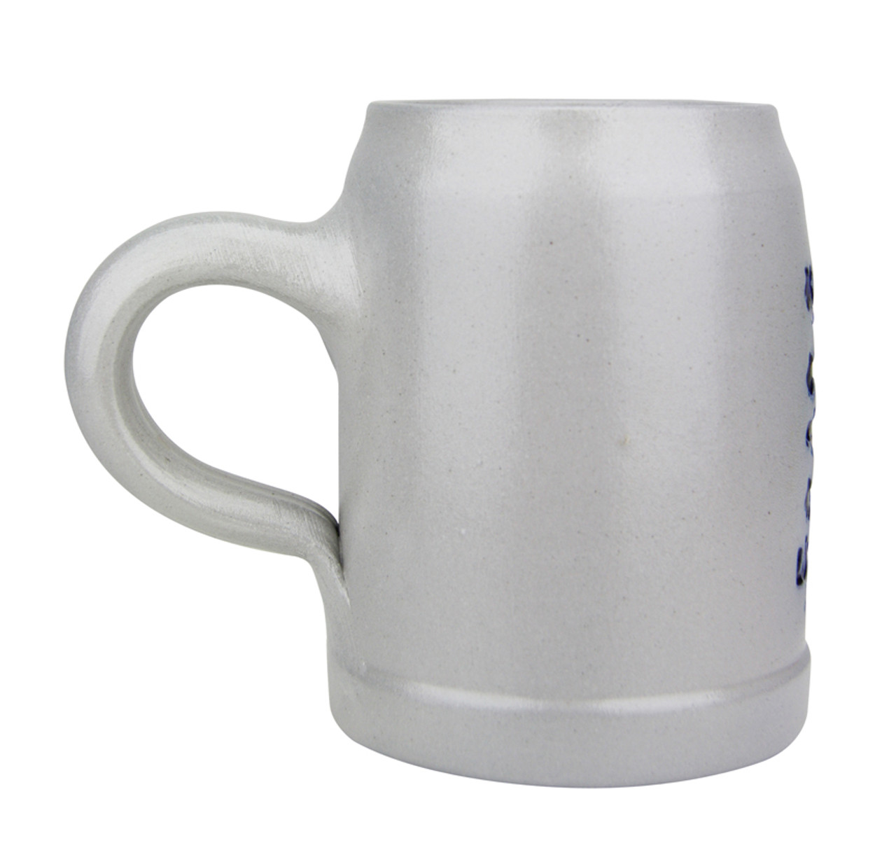 Undecorated Back .5 Liter Stoneware Beer Mug