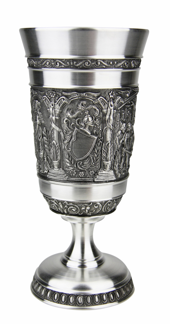 Knights Pewter Wine Goblet