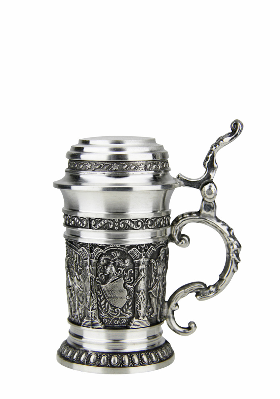 Solid Pewter Mini Stein for Schnapps