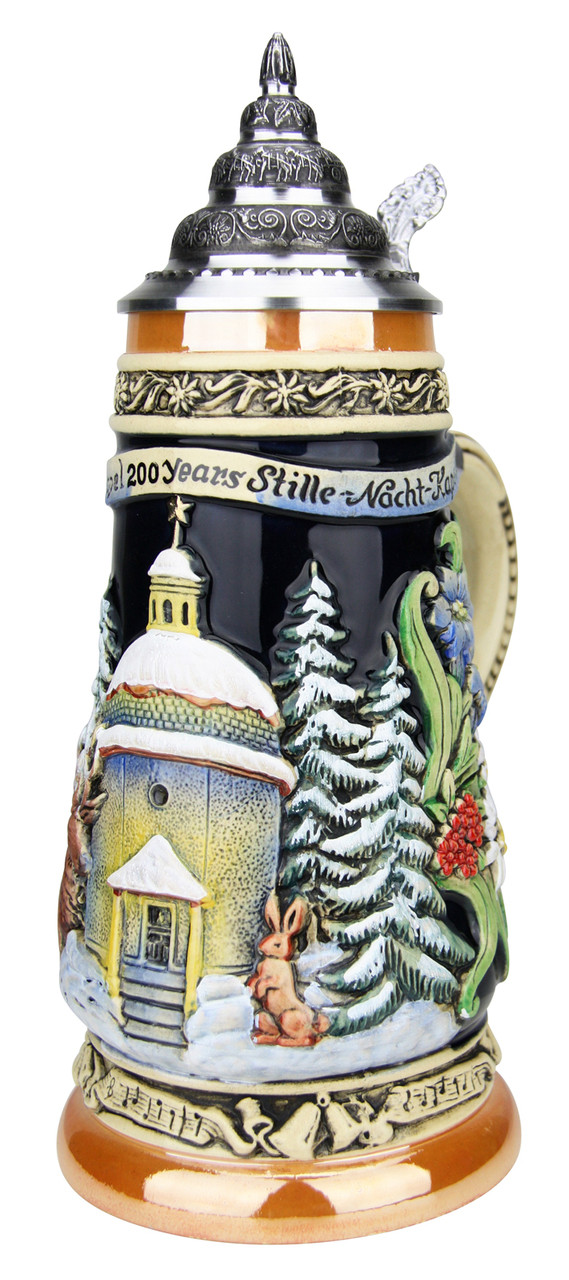 200th Anniversary Silent Night Chapel German Christmas Beer Stein | Musical
