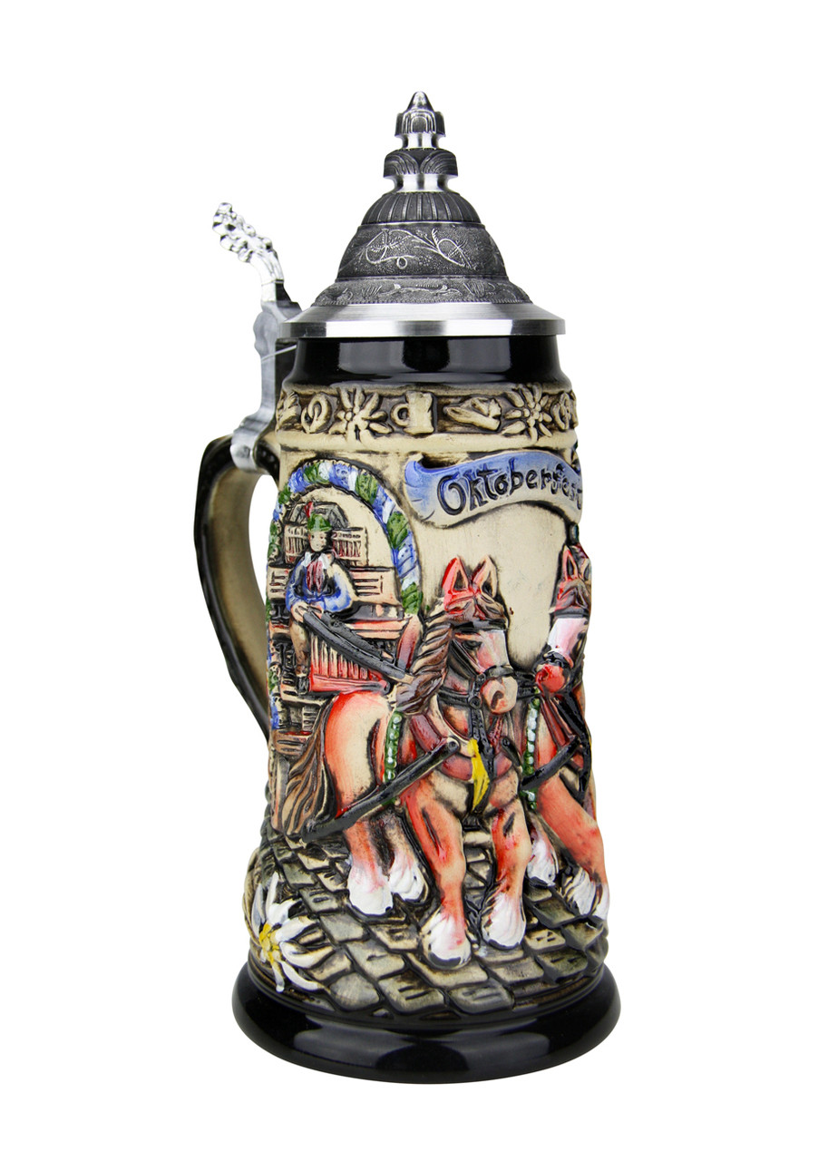 Oktoberfest Beer Wagon Stein holds .25 L of Beer