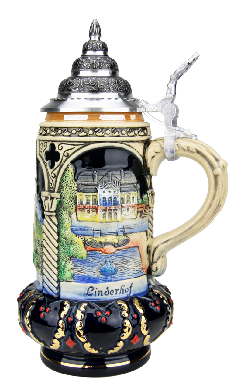 NEW!Germany,German,Ludwigs Beer,Bier Stein SHOT GLASS.Neuschwanstein,w.Handle