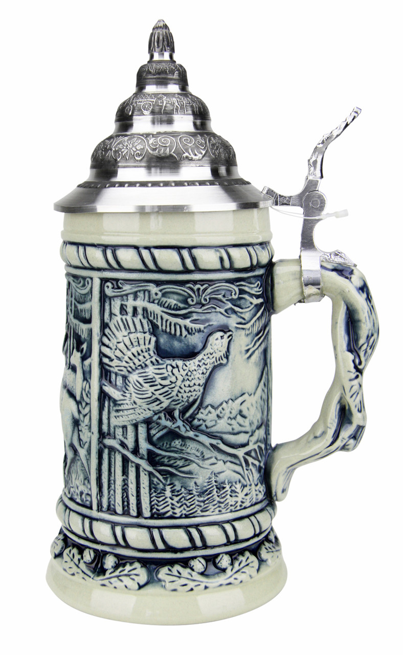 Alpine Wildlife Antique Style Beer Stein