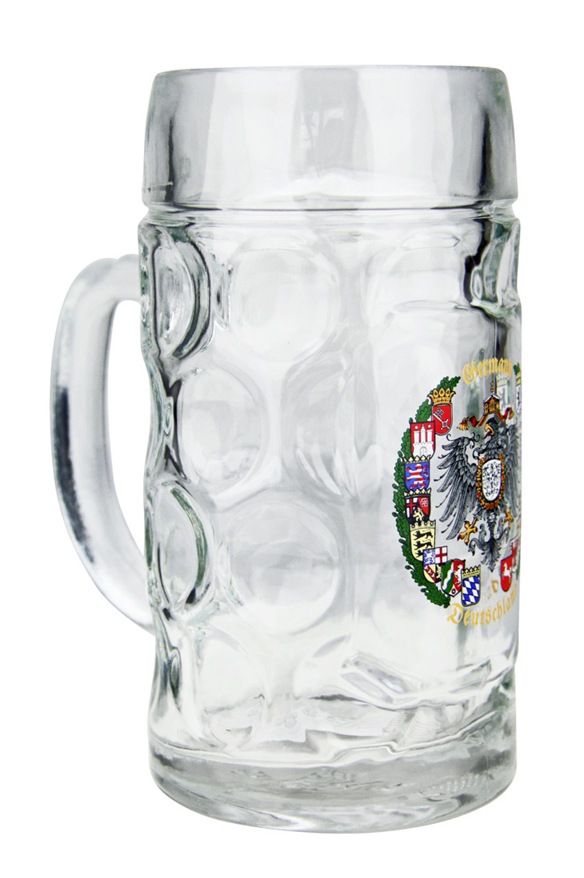 "Glass Beer Mug reads ""Germany - Deutschland"""