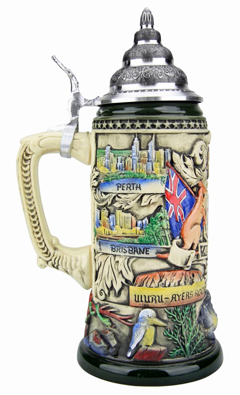Australia Beer Stein Rustic