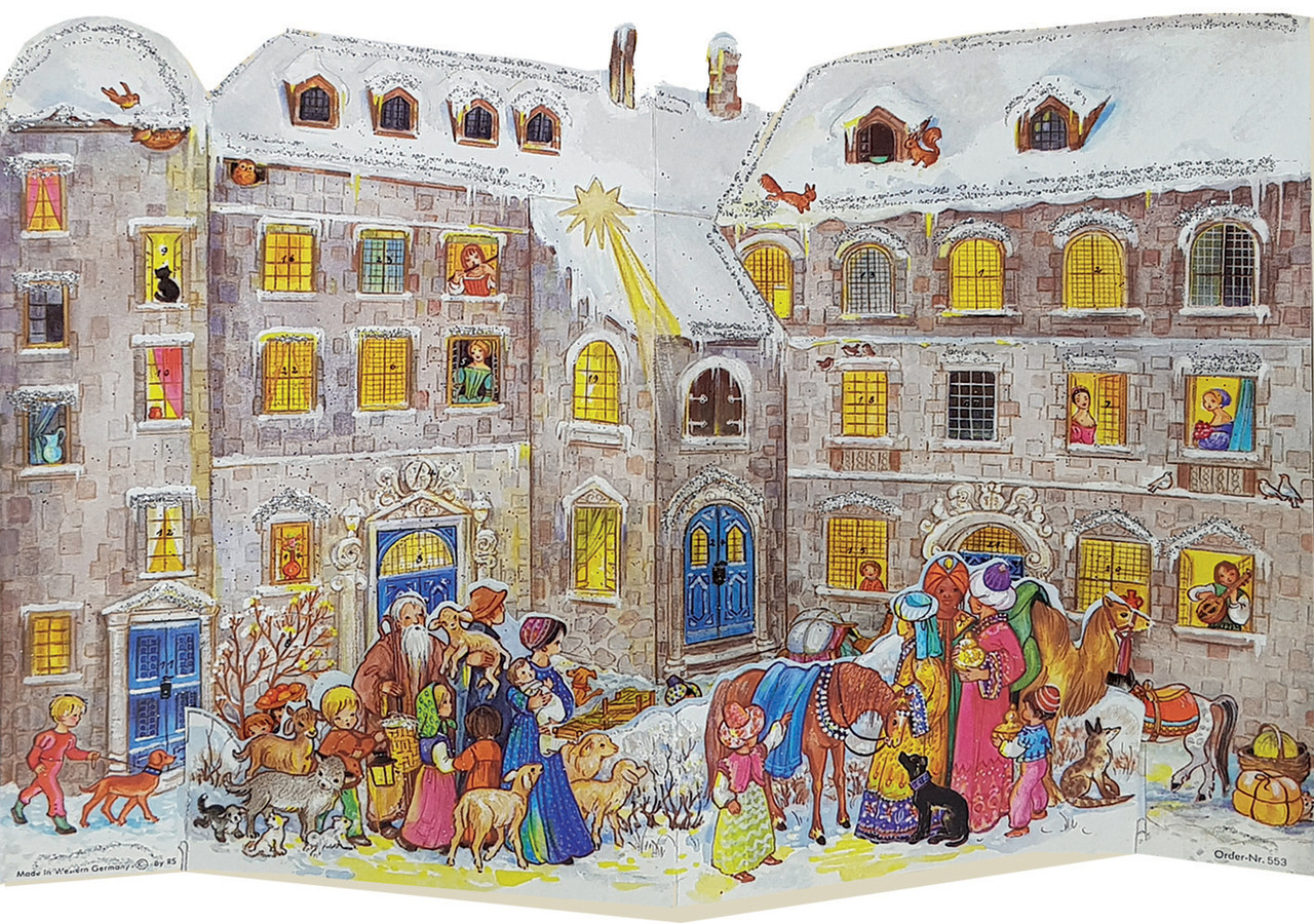 3-D Christmas Castle Courtyard German Advent Calendar