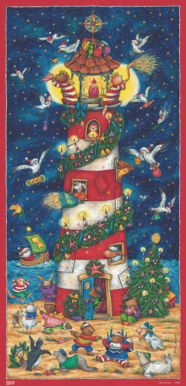 Christmas at the Lighthouse Extra Tall German Advent Calendar