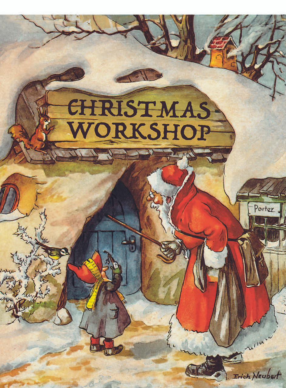 Santas Christmas Workshop Tear Off German Advent Calendar