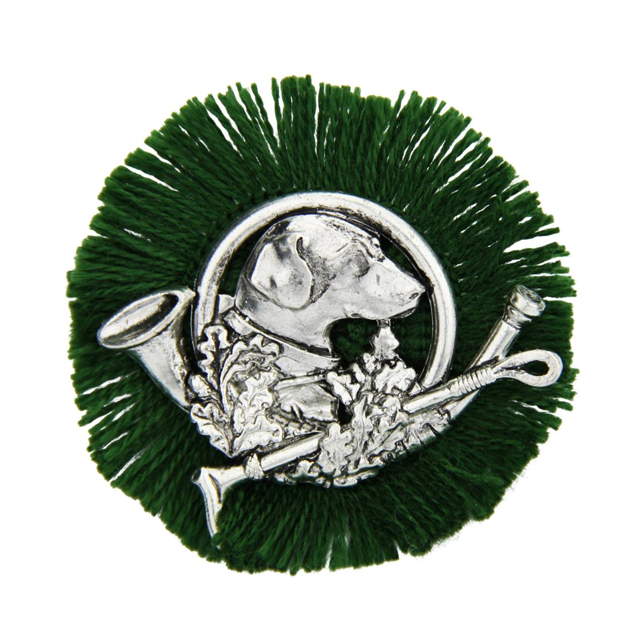 Hunting Hound German Rosette Hat Pin