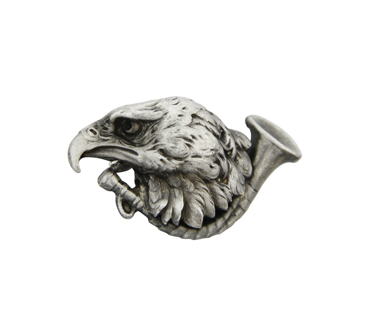 Eagle German Hat Pin Silver Plated