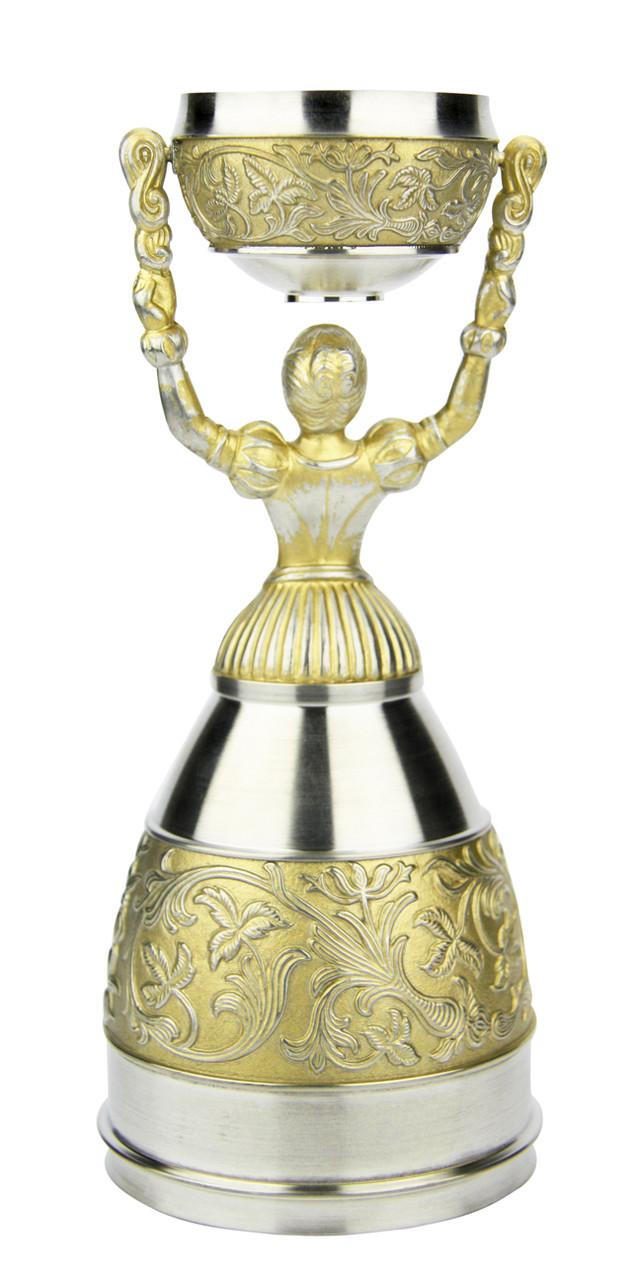 German Pewter Bridal Cup | Nuremberg Wedding Cup | Golden Finish