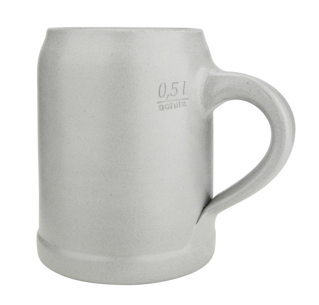 German Stoneware Salt Glaze Beer Mug 0.5 Liter